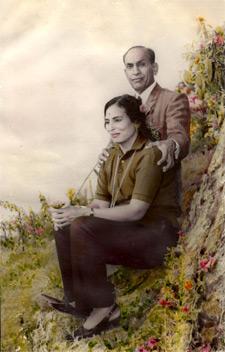 Asha Bhagat with husband Hari Dev Bhagat